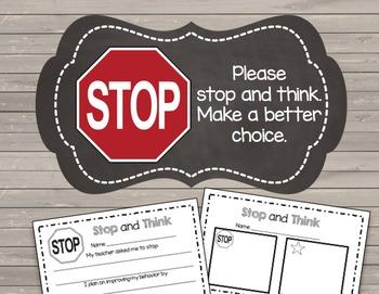 Behavior Tickets & Reflection Sheet - Classroom Management