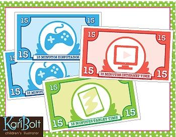 Behavior, Time Bucks and Chore Cards