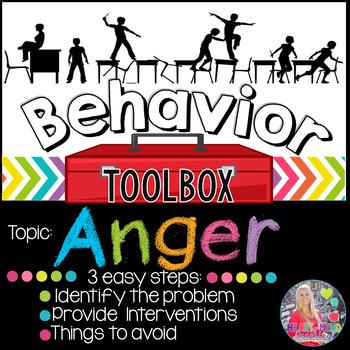 Behavior Toolbox: ANGER, Positive RtI SEL Classroom Interventions