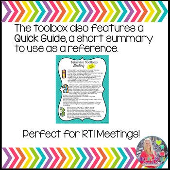 Behavior Toolbox: DEFIANT, Positive RtI SEL Classroom Interventions;