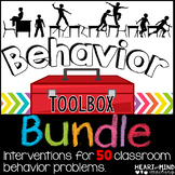 Behavior Intervention Toolbox BUNDLE Classroom Behavior Interventions