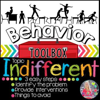 Behavior Intervention Toolbox: INDIFFERENT