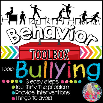 Behavior Toolbox: BULLYING, Positive RtI SEL Counseling Classroom Interventions