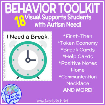 Behavior Toolkit- 18 Visuals to Support Students with Autism
