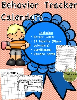 Behavior Tracker Calendars - A Classroom Management Tool