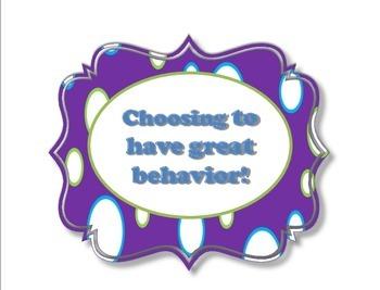 Behavior Tracker Chart- Back to School