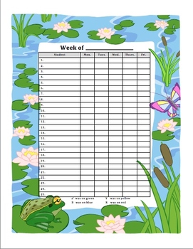 Behavior Tracker Whole Class