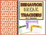 Behavior Trackers for Break Tickets - Set B (Lower Elementary)