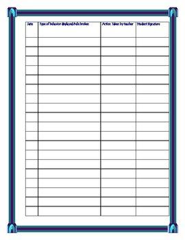 Behavior Tracking Chart (Individual Students)