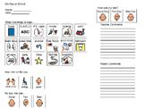 Behavior Tracking Communication Note for Parents