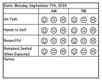 Behavior Tracking Form (Editable)