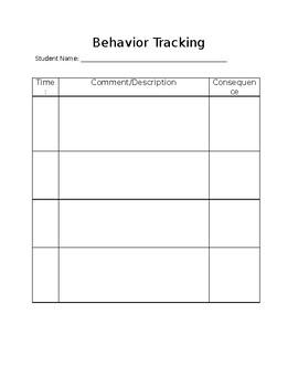 Behavior Tracking Form