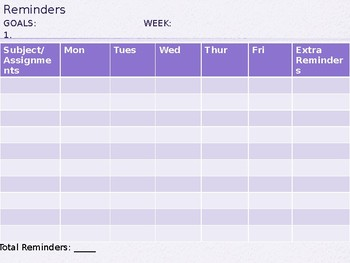 Behavior Tracking Form (Weekly)