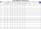 Behavior Tracking Log (editable)
