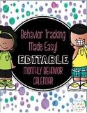 Behavior Tracking Made Easy! An Editable Monthly Behavior