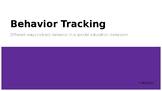 Behavior Tracking Presentation