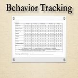 Behavior Tracking Printable *Editable*