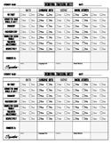 Behavior Tracking Sheet / Behavior Chart