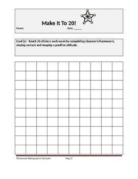 Behavior Tracking Sheets
