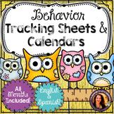 Behavior Management Tracking Sheets, Clip Chart & Calendars