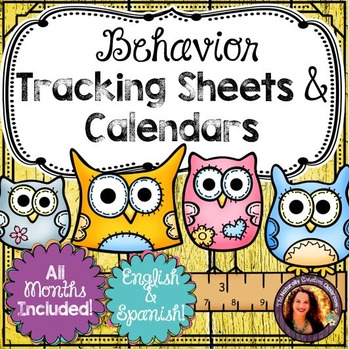 Behavior Management Tracking Sheets, Clip Chart & Calendars