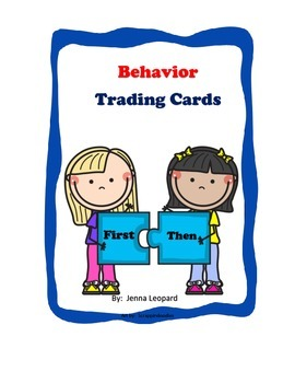 Behavior Trading Cards for Special Ed and General Ed; Behavior Management
