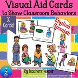 Behavior Visual Aids: English & Spanish (Covid 19)