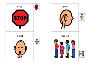 Behavior Visual Cards for Lanyard 1