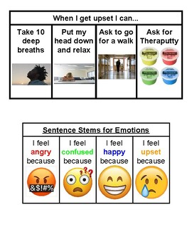 Behavior Visuals (Self-regulation and Express Emotions)