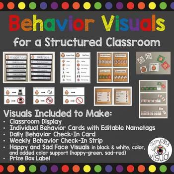 Behavior Visuals for a Structured Classroom