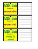 Behavior Vocabulary