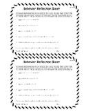Behavior Warning Cards & Reflection Sheet
