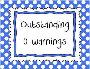 Behavior Warning System