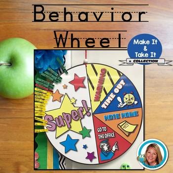 Behavior Clip Chart Wheel Class Management by Teacher's Brain