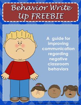 Behavior Write Up FREEBIE
