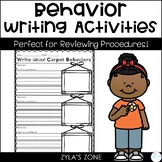 Behavior Writings Activities - Back to School
