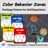 """Behavior Zones - Color Zones of Regulation Posters - """"Zones"""" & """"Levels"""" Version"""