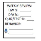 Behavior and Academic Tracker - Whole Quarter