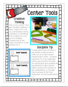 TEACHER TOOLBOX Classroom and Behavior Management plus Centers - Word Work