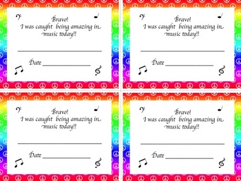 Behavior and Classroom Posters for the Music Classroom-Peace Sign