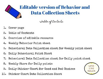 Behavior and Data Collection Sheets Bundle! Editable and Ready-to-use versions!