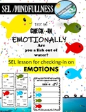 Behavior and Emotional  Check-in poster and 2 activities ( SEL / MINDFULNESS )