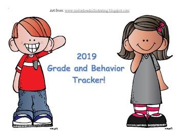 Behavior and Grades Tracker To Send Home Daily