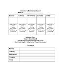 Behavior and Homework Form