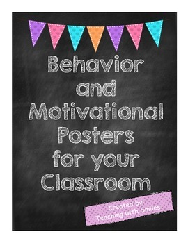 Behavior and Inspirational Posters - Chalkboard Style