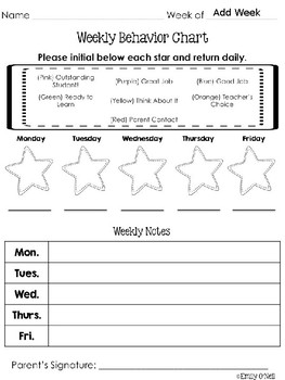Behavior and Reading Logs (Colorful Chevron & Chalkboard Theme)