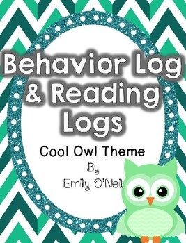 Behavior and Reading Logs (Owl Theme)