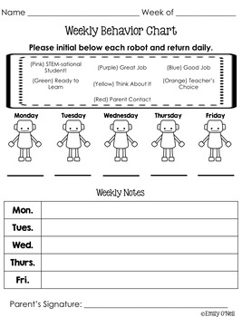 Behavior and Reading Logs (STEM-sational Theme)