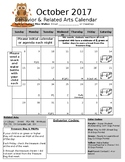 Behavior and Related Arts Monthly Calendar