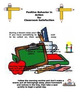Behavior and Rewards Poster